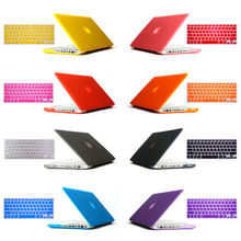 """2in1 freeship gift Matte Hard Crystal Glossy Cover Case shell + Keyboard Skin For 11"""" 12"""" 13"""" 15"""" inch Macbook Air Pro Retina(China (Mainland))"""