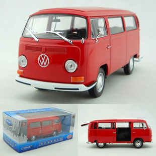 Wyly 1972 bus welly volkswagen t2 alloy car model gift 1/24(China (Mainland))
