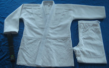 Factory price Brazilian Jiu Jitsu uniform Judo Gi Bjj Gi 100% Preshrunk Cotton colors blue white training unisex wear adult kids(China (Mainland))