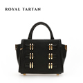 ROYAL TARTAN women leather handbags luxury tote bag genuine leather shoulder bags brand designer handbag women