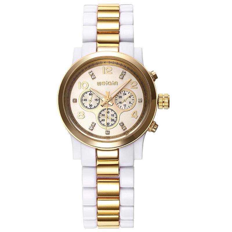 Weiqin Brand Women Watches Trendy Fashion Rose Gold White Rhinestone Round Dial Analog Quartz Wrist Watch Clock Relogio Feminino<br><br>Aliexpress