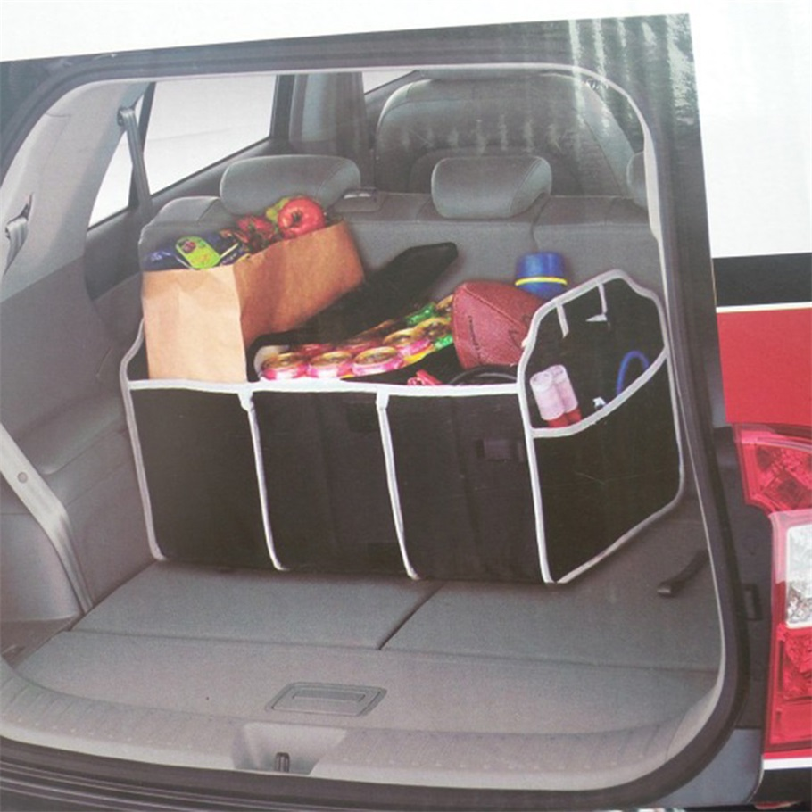 1pc Useful Car Organizer Boot Stuff Food Storage Bags trunk organiser Automobile Stowing Tidying Interior Accessories Foldable(China (Mainland))