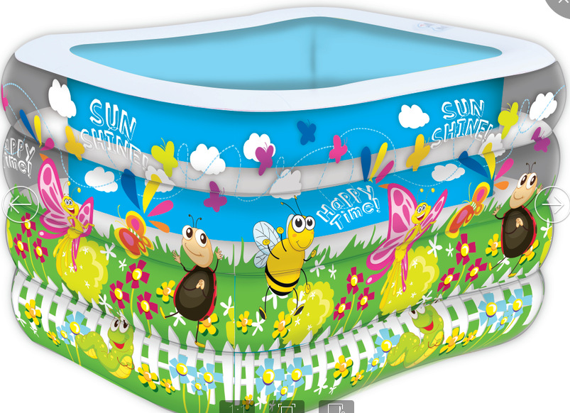 1.4mFour children swimming pool manufacturers baby pool inflatable infant thickened bath barrel(China (Mainland))