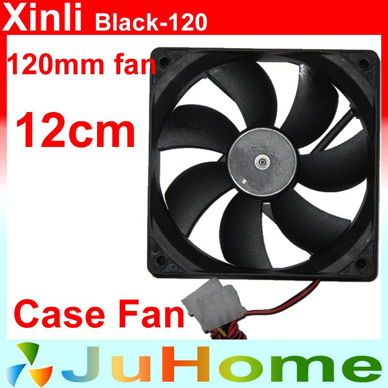 120mm, 12cm fan, case fan, Black, quiet, for power supply, for computer Case, Computer fan, Computer cooler, Xinli Black_12025(China (Mainland))