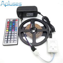 Buy LED Strip Light 3528 RGB 5M 300 LED Non-Waterproof Flexible Strip Light Set + 44Keys Remote Controller + 12V 3A Power Adapter for $2.76 in AliExpress store