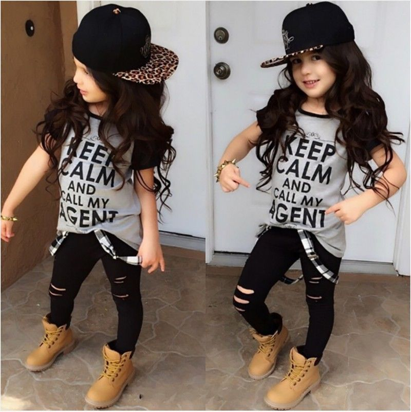 t shirt tops pants casual stylish kids baby girls clothes