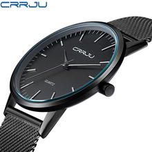 Buy Men's Watches Brand Luxury watch Casual men Black Japan quartz watch stainless steel Mesh strap ultra thin clock male gift for $14.99 in AliExpress store