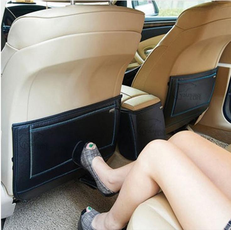 New car styling car Rear seat anti-play mat Anti-kick pad interior decorative mat for Hyundai Verna/ Solaris free shipping<br><br>Aliexpress