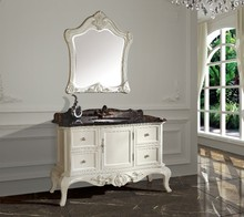 New arrival antique bathroom cabinet  with mirror and basin counter top  classic bathroom vanity(China (Mainland))