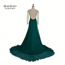 Real Photos Beading Hand Made Woman Green Formal Long Evening Dress Gowns Party Red Dress Blue Color OL102678(China (Mainland))