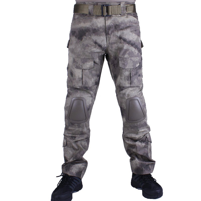 Camouflage military Combat pants men trousers tactical army pants with Removable knee pads A-TACS