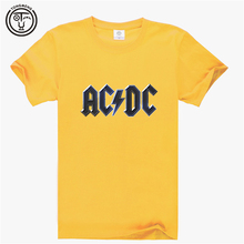 2016 AC/DC Back in Black Hard Rock Blues Rock Cotton Print T-shirt Tee SHIRT Short Sleeve 3D Digital Print AW 1340