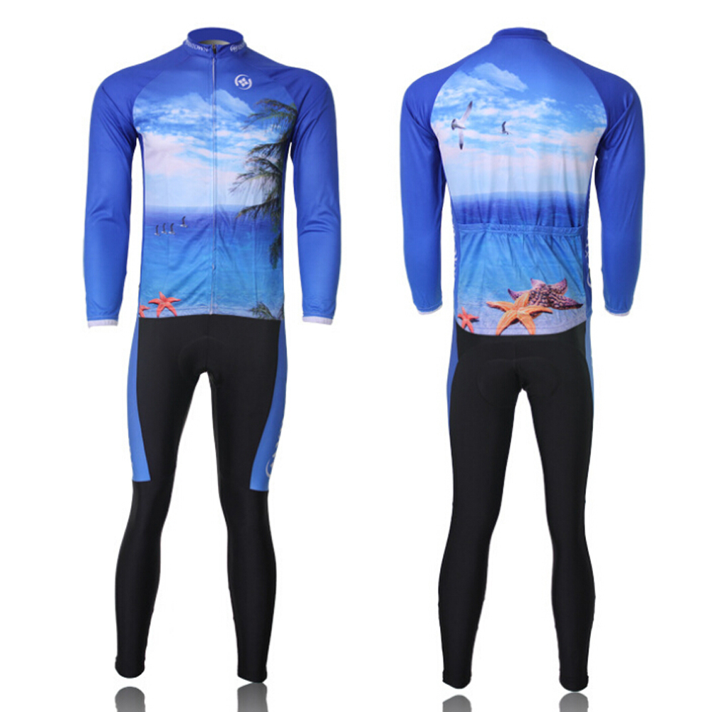 winter autumn  long sleeve bicycle cycling jerseys / mountain bicycle clothes / jacket top clothing bib pad pants<br><br>Aliexpress