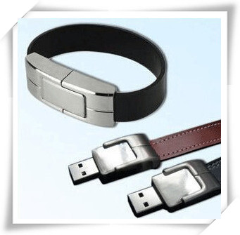 Wristband iron leather USB Flash 2.0 Memory Drive Stick Pen/Thumb/Car usb flash drives 4gb 8gb 16gb 32gb 64gb S413(China (Mainland))