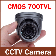 "700TVL 1/3"" CMOS 12 LEDs Night Vision 3.6mm Lens Outdoor / Indoor Metal Waterproof Mini Dome Camera Security CCTV Camera"