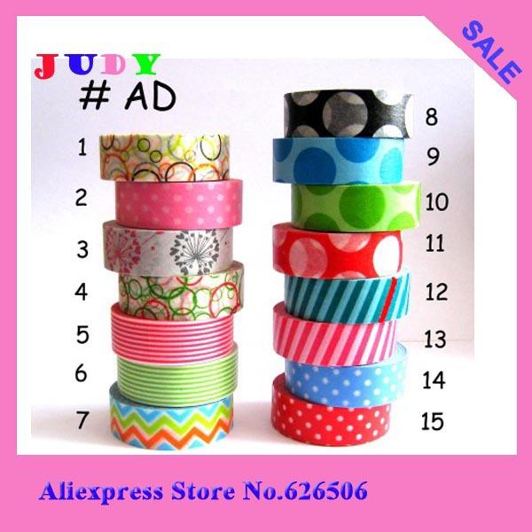 Free shipping colorfull janpanese printing masking hot sell market cute deisgns rice paper tape(China (Mainland))