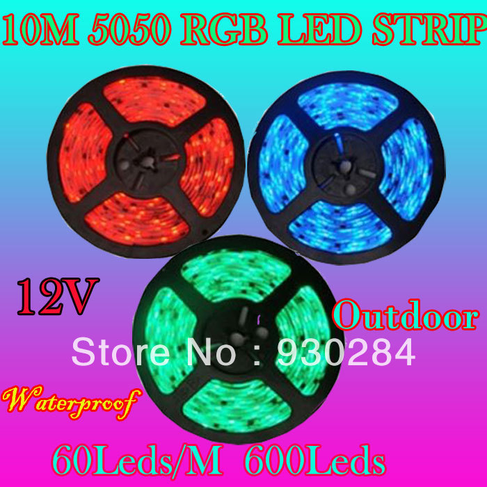 Outdoor 12 Volt 60leds Meter Led Strip Smd 5050 Rgb: Free Mail 12v 10M 5050 RGB SMD 60Leds/M Desk Light Led