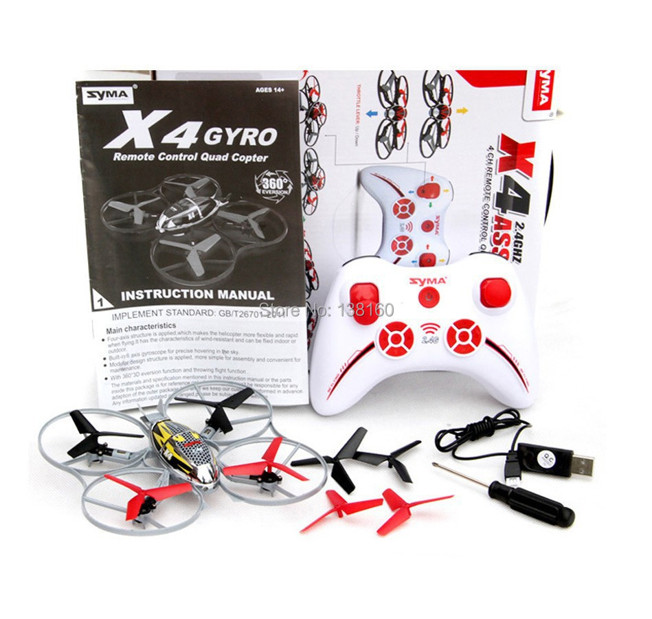 Outdoor Mini Rc Helicopter Remote Control Toys SYMA X4 Brand New 2.4G 4CH
