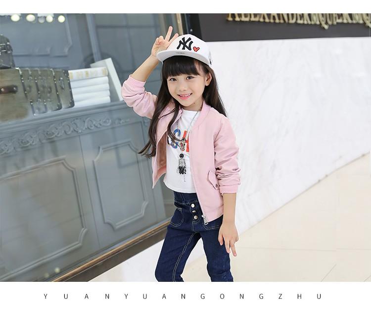 Скидки на Новая детская одежда девушки осень одежда досуг дети чистый цвет оранжевый розовый синий куртка детская одежда