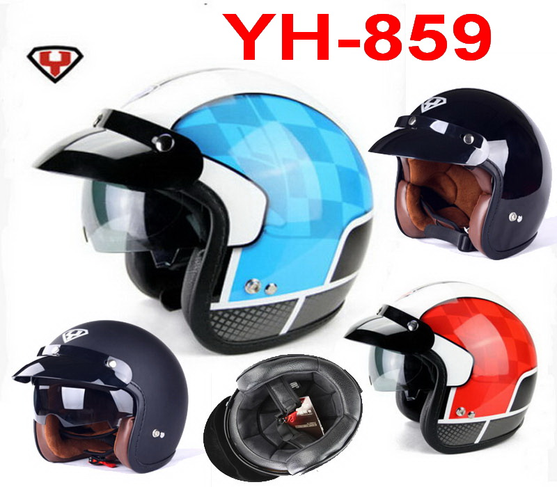 2015 New YOHE return to the ancients Harley style off-road motorcycle helmet YH-859 Motorbike helmets of ABS and size M L XL XXL<br><br>Aliexpress