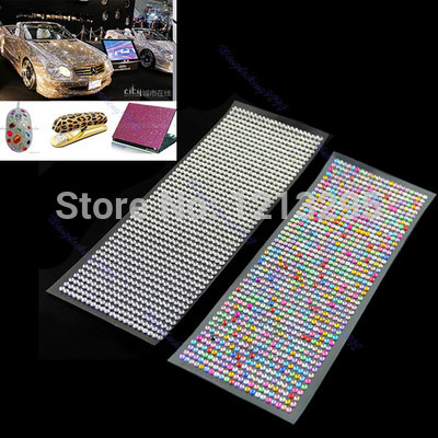 Y102 DIY 4mm 1000pcs Crystal Diamond Decoration Sticker For Car Mobile PC Nail Art(China (Mainland))