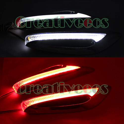 White/Red Super Cool Car Corner LED Side Marker Turn Signal R100 Steering Direction Indicator Light Lamp For Car Refitting(China (Mainland))