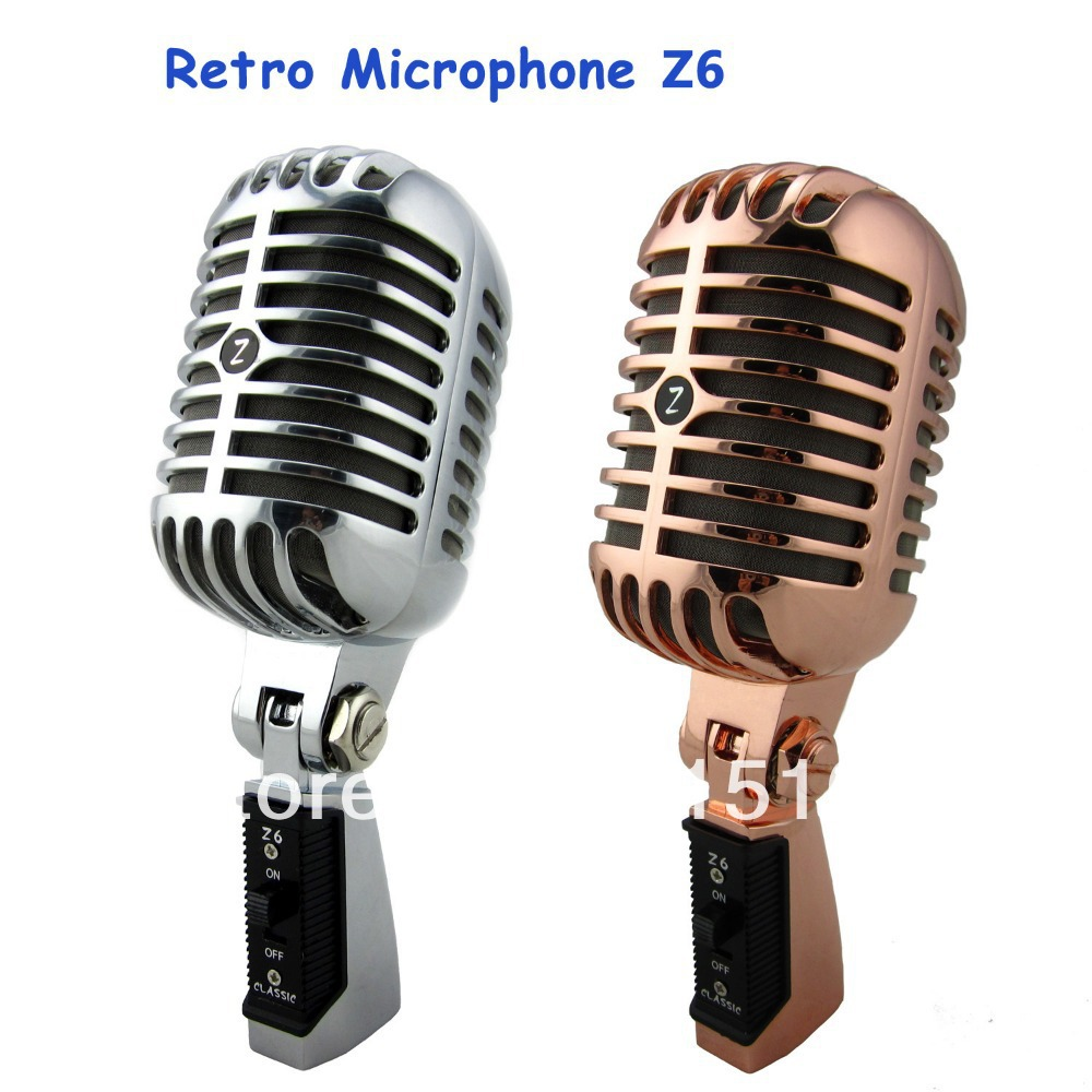 Professional Retro Microphone Speaker Jazz/blues Microphone With Metal Mesh Classic Dynamic Wedding Booth Mic Free Shiping(China (Mainland))