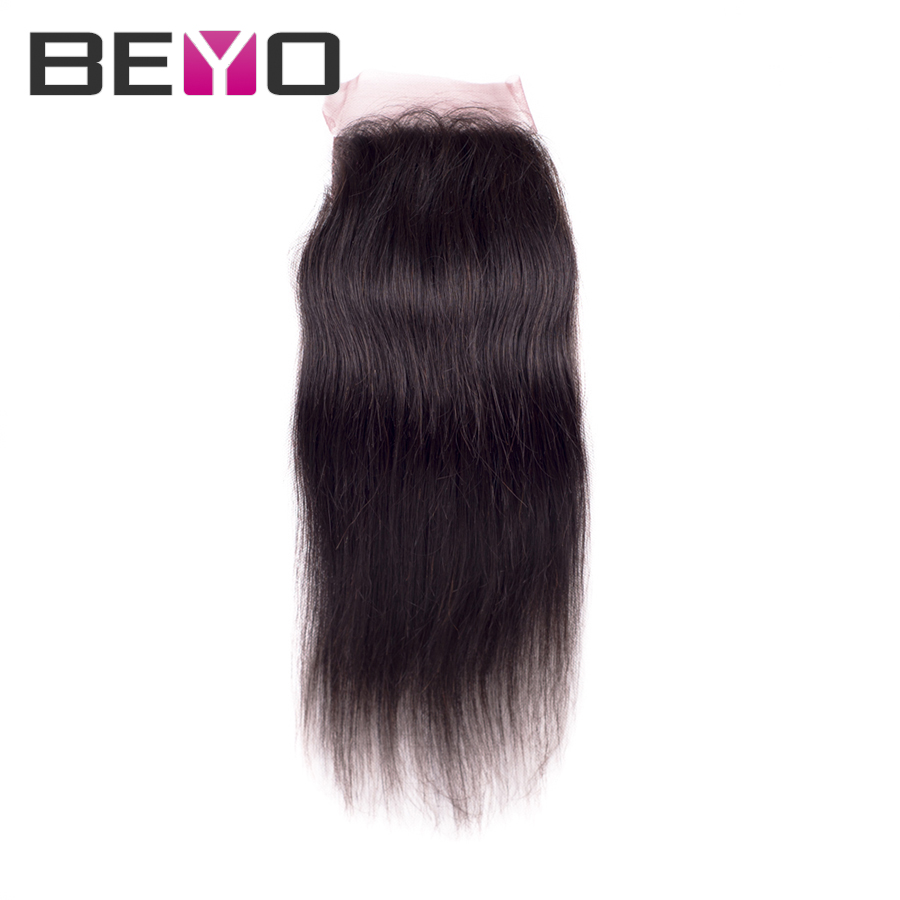 Peruvian lace closure unprocessed virgin peruvian  hair peruvian virgin hair straight human hair closure 10-24