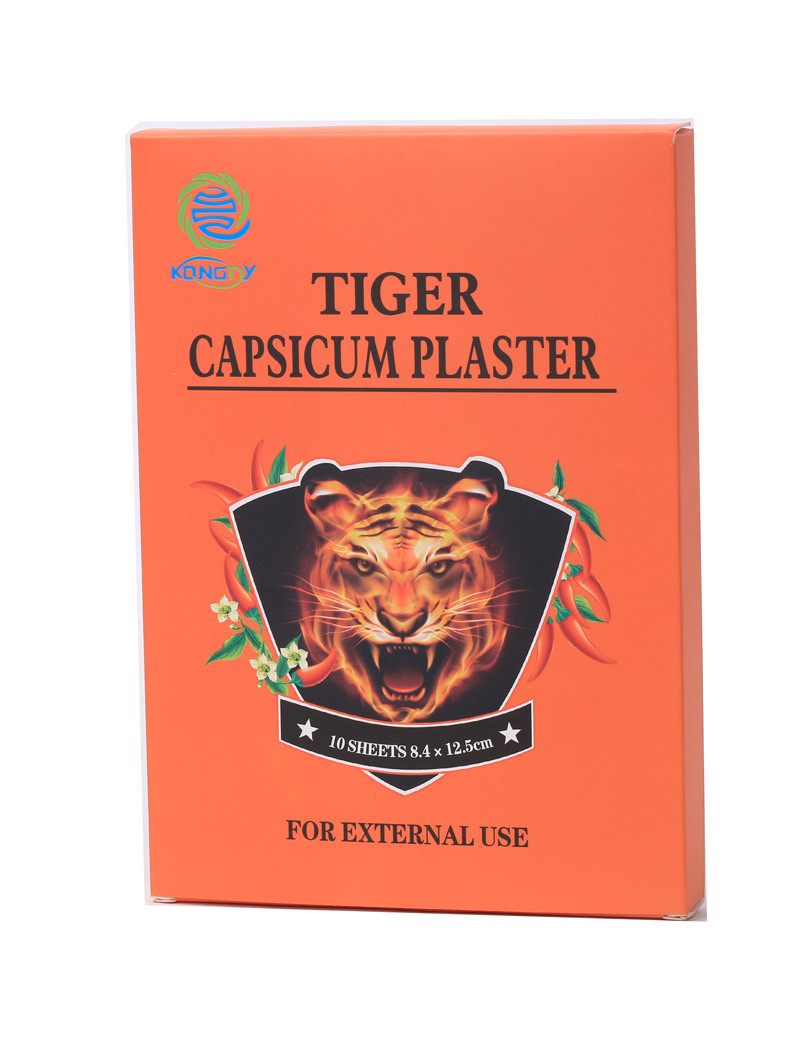 50 Pcs/5 Boxes Balm Tiger Balm Capsicum Pain Relief Plaster Sciatica Topical Pain Relieving Health Care for Back Balm Tiger Balm(China (Mainland))