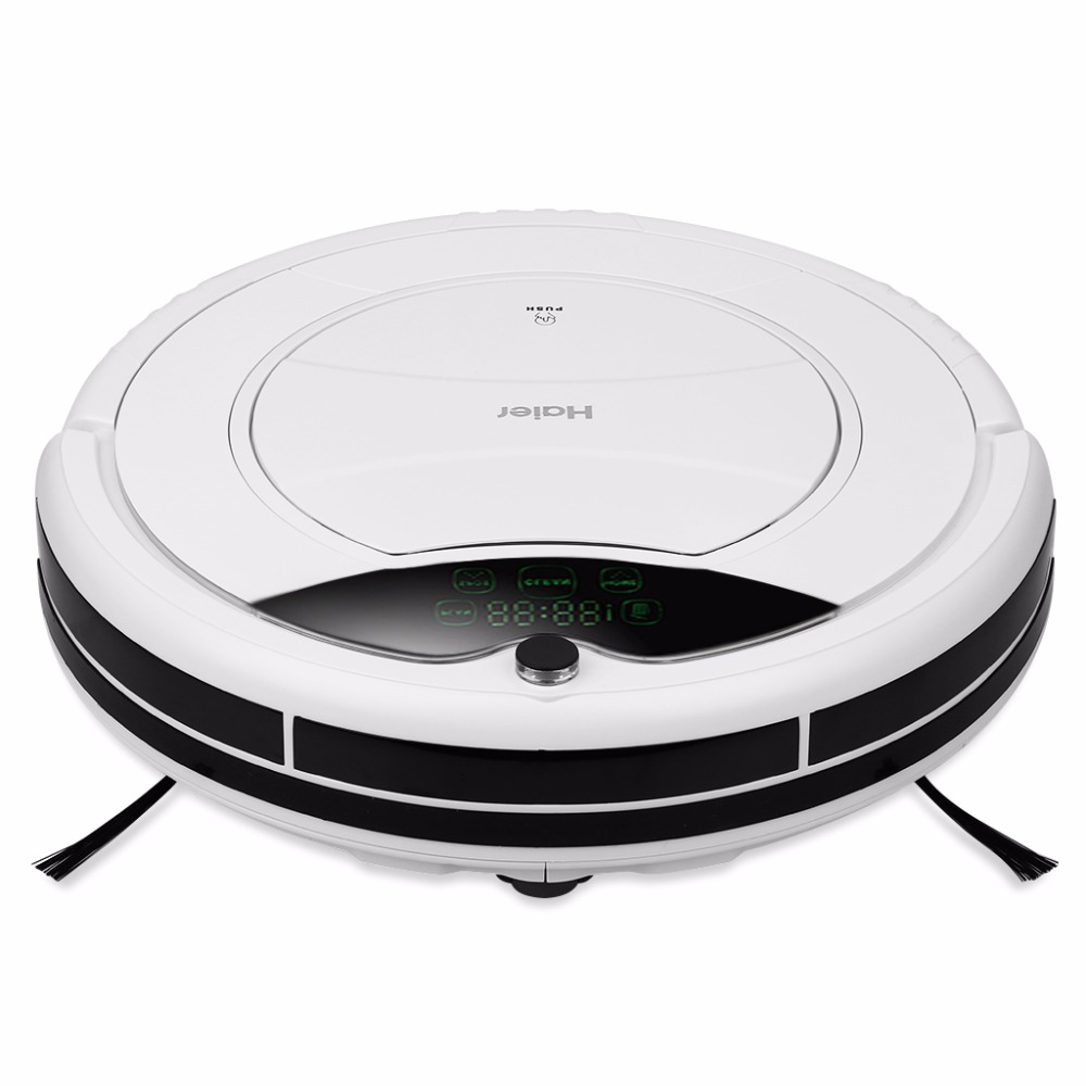 Haier Smart Robot Vacuum Cleaner Water Tank Low Noise Cliff Sensor Self Charge ROBOT ASPIRADOR Wet and Dry Clean Machine EU Plug(China (Mainland))