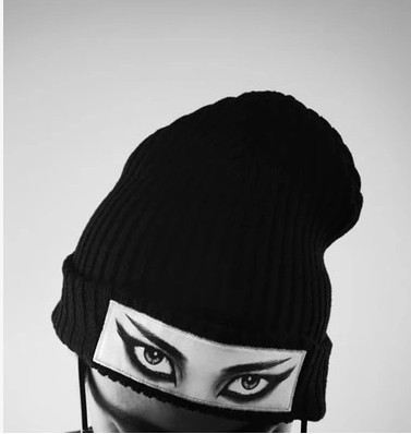 2015new Sakun Autumn And Winter Eye Fashion Personality Black cap(China (Mainland))