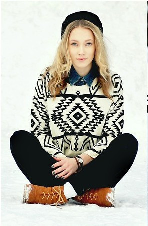 Free shipping, and in the autumn of 2013 the new geometry sweaters, knitting leisure warm pullover