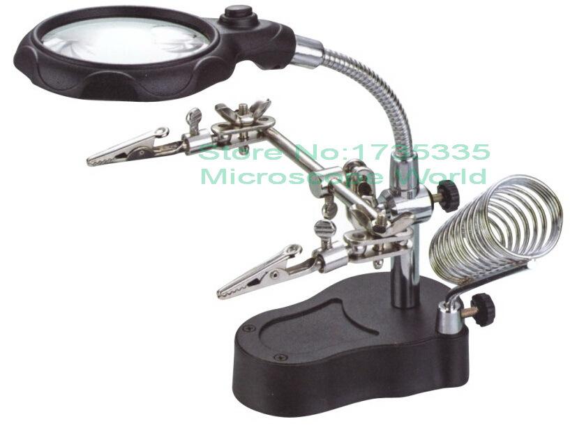 Repair LED Light Magnifier Amp Desk Lamp Helping Hand Repair