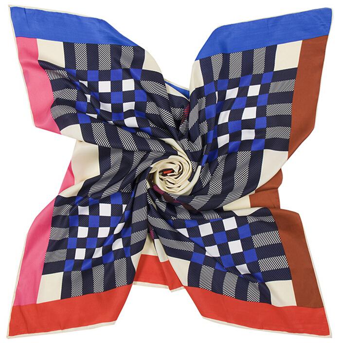 100% Twill Silk Scarf Pashmina TONY & CANDICE (TM) Women's Graphic Print 100% Silk Square Scarf Neckerchief 40*40 Inches(China (Mainland))