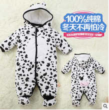 Clothes newborn baby cotton one-piece thick hooded baby  warm in autumn and winter clothes romper animal style Totoro(China (Mainland))