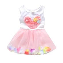 New Kids Girls Summer Dress Princess Party Flower Tutu Dress Clothes Age 0-4Y