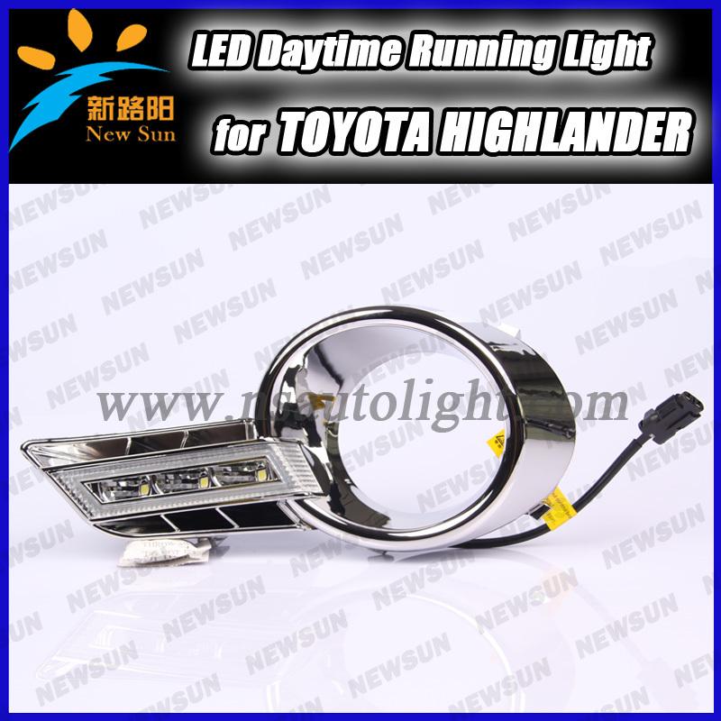 High power car Specific Plating led daytime running light DRL/Fog light for Toyota Highlander 2011 Ultra-bright LED illumination<br><br>Aliexpress