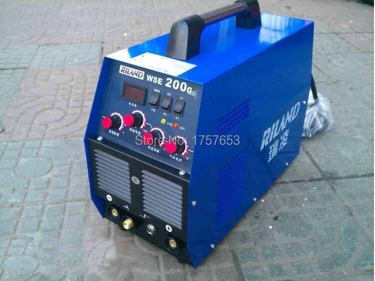 FREE SHIPPING High quality RILAND welder Inverter weld aluminium machine WSE-200 TIG 200 AC DC tig argon welder(China (Mainland))