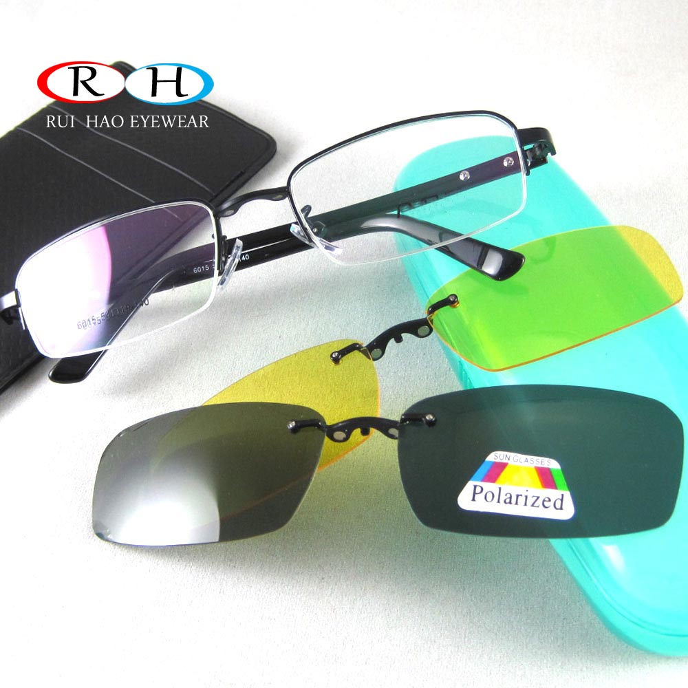 Eyeglass Frame With Magnetic Clip On Sunglasses : Eyewear Frame Optical Eyeglasses Frames Spectacles Frame ...
