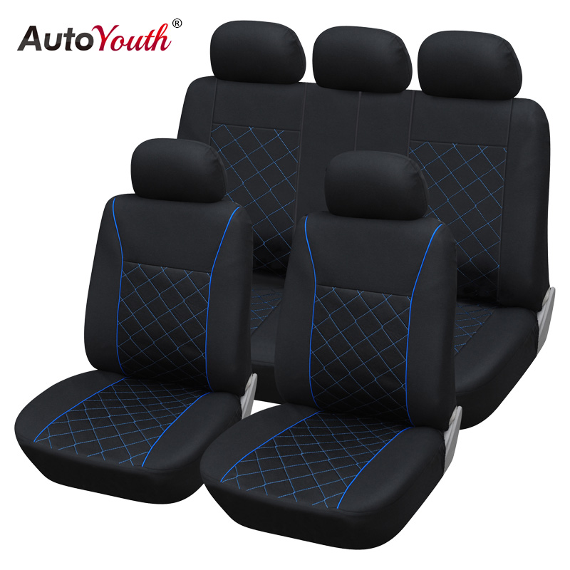 AUTOYOUTH Blue Line Car Seat Cover Universal Fit Most Car
