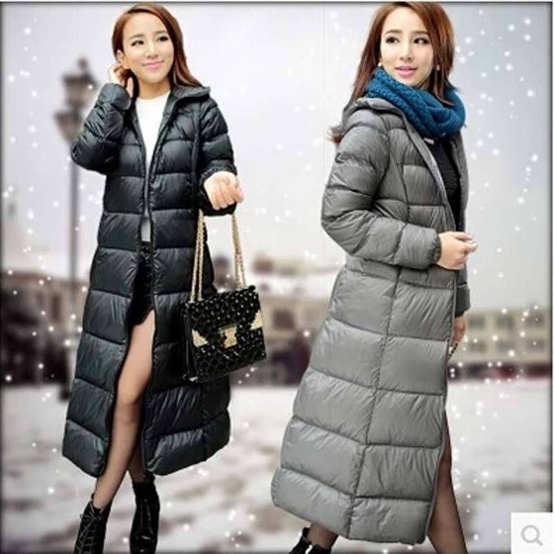 high quality 2015 Winter plus size X- Long Thick Duck Down Winter Jacket women slim Parkas Hooded Coat Outdoor Down coat AE450 Одежда и ак�е��уары<br><br><br>Aliexpress