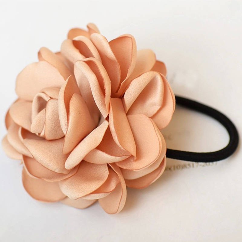 2015 Fashion Nice Korean Tire Hair Bands Roses String Girl Rope for Women Colorful Navy Wine Red Dark Green Hair Accessories(China (Mainland))