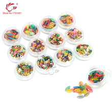 Nail Beauty Care 12pots/set Mix Color 3D Flower/Round/Leaf Shaped Decorations For DIY Nail Art Design Manicure Tools(China (Mainland))