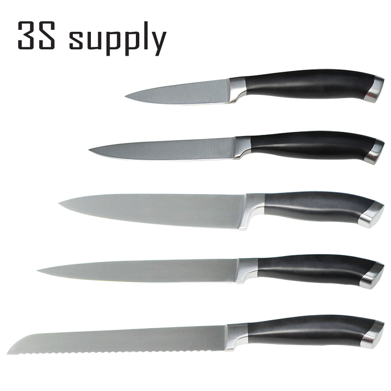 New Coming 5 Pcs Stainless Steel Kitchen Knives Set Pom