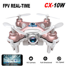 Buy 2016 Cheerson CX-10W CX 10W Drone Dron Quadrocopter RC Quadcopter Nano WIFI Drone Camera 720P FPV 6AXIS GYRO Mini Drone for $33.78 in AliExpress store