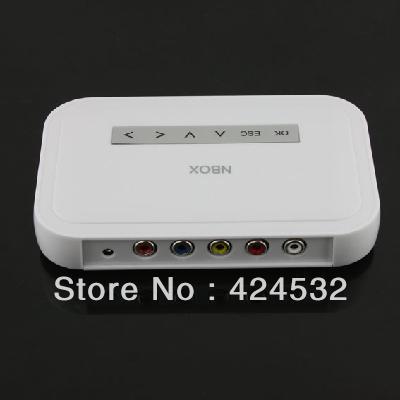 Free Shipping NBOX Flash HDD USB SD Card Media Player RMVB MP3 AVI MPEG Divx