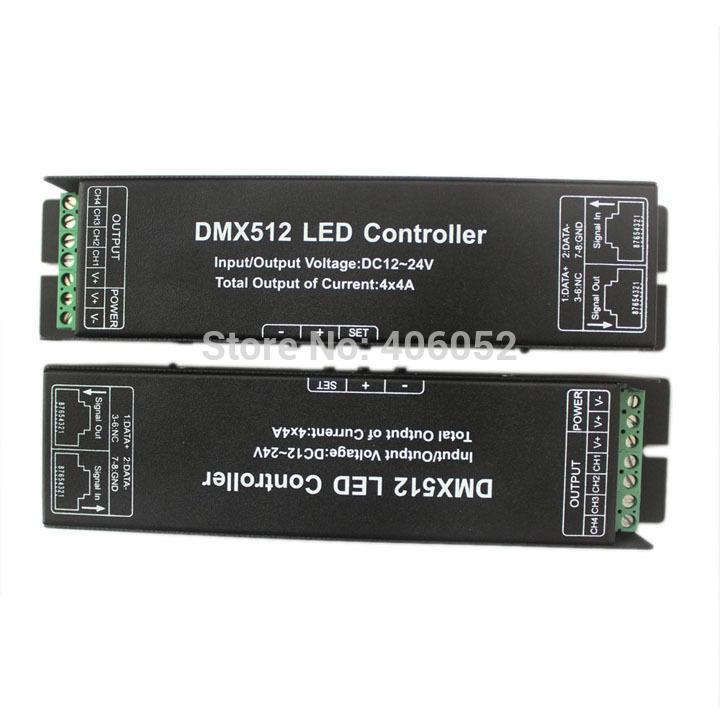 4channels LED RGBW Controller DMX 512 LED Decoder & Driver 12V DMX Controller(China (Mainland))