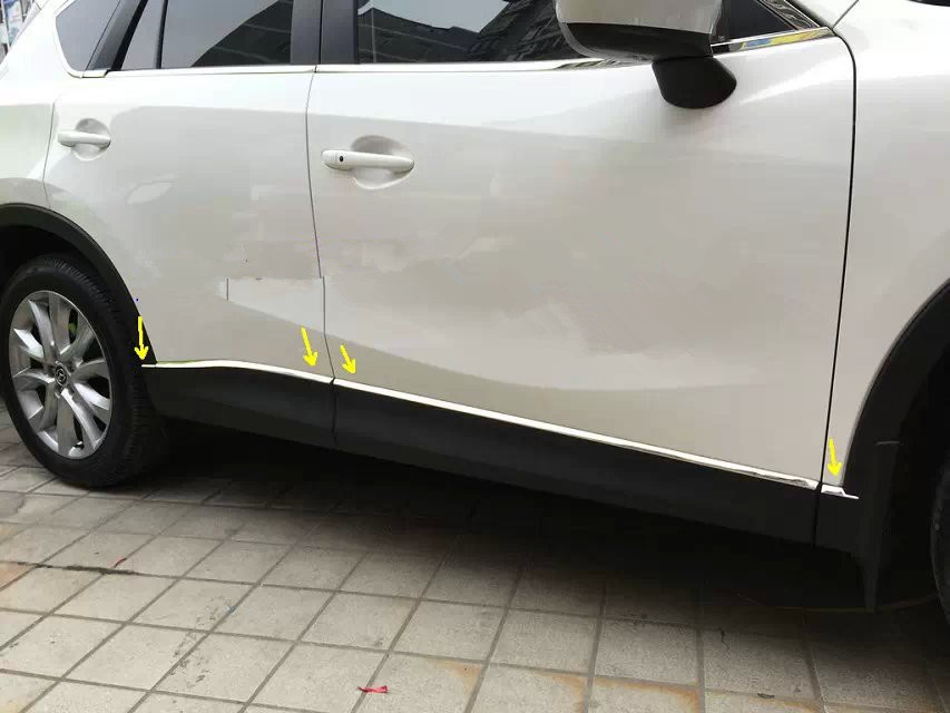 for Mazda CX-5 2012-2015 stainless steel Side Door car Body Moulding Trim 8PCS/set(China (Mainland))