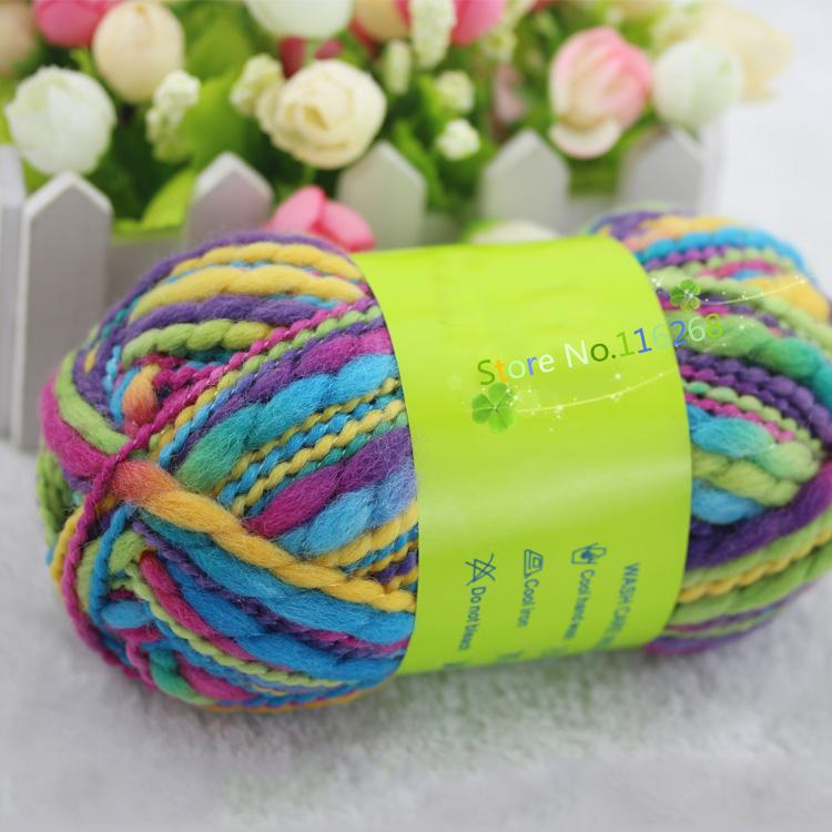 200g/lot 100% wool Big-belly Yarns crochet yarn Dyeing colorful Hand Knitting Yarn For Knitting& Crocheting kyrie yarn DIY t49(China (Mainland))