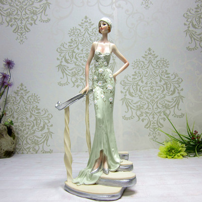 2015 New European Style Resin Statue Of Elegant Beauty Home Decoration Crafts Furnishing Articles(China (Mainland))